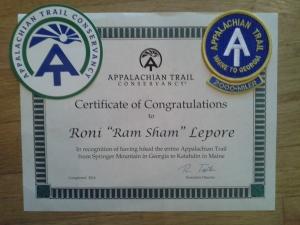 "Certificate of Congratulations  Roni ""Ram Sham"" Lepore"